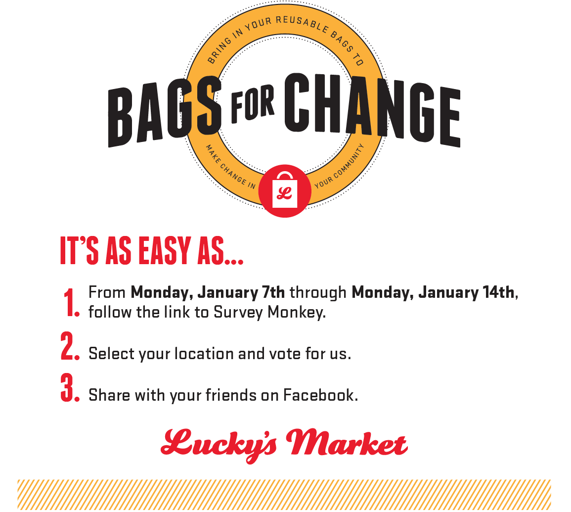 Imagine! has been nominated for Lucky's Market South Boulder Quarter 1 Bags for Change partnership, and you can help!