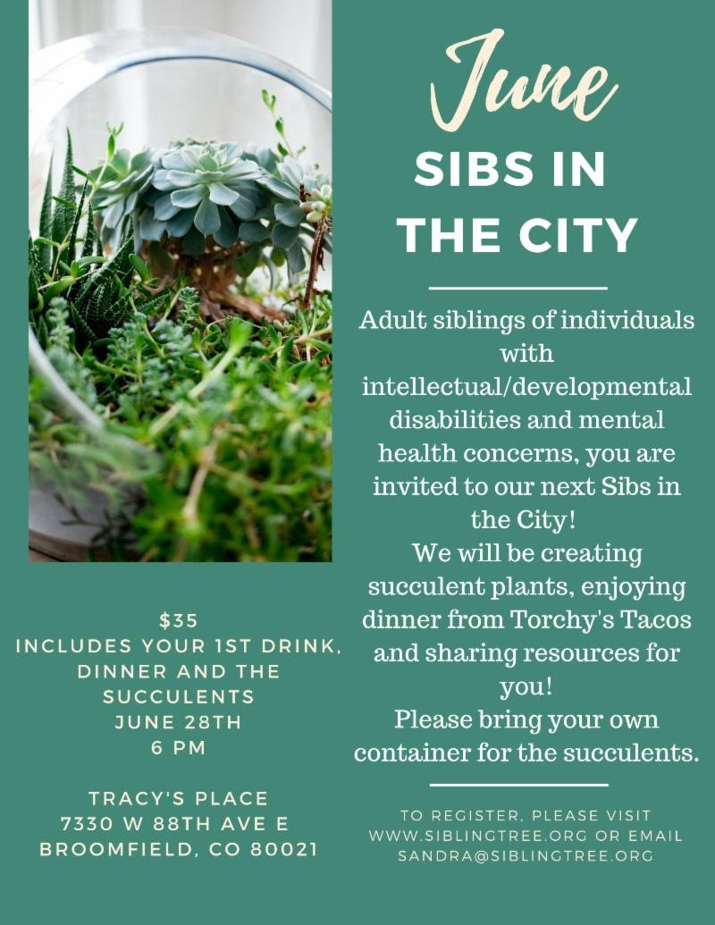 Adult siblings of individuals with I/DD are invited to Sibling Tree's Sibs in the City.